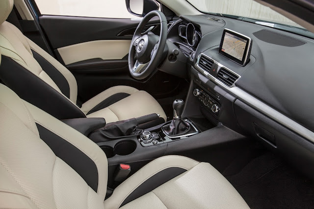 Interior view of 2016 Mazda 3 S Five-Door Grand Touring