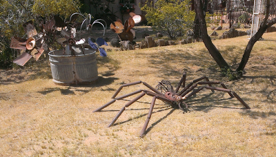 large spider statue in front yard