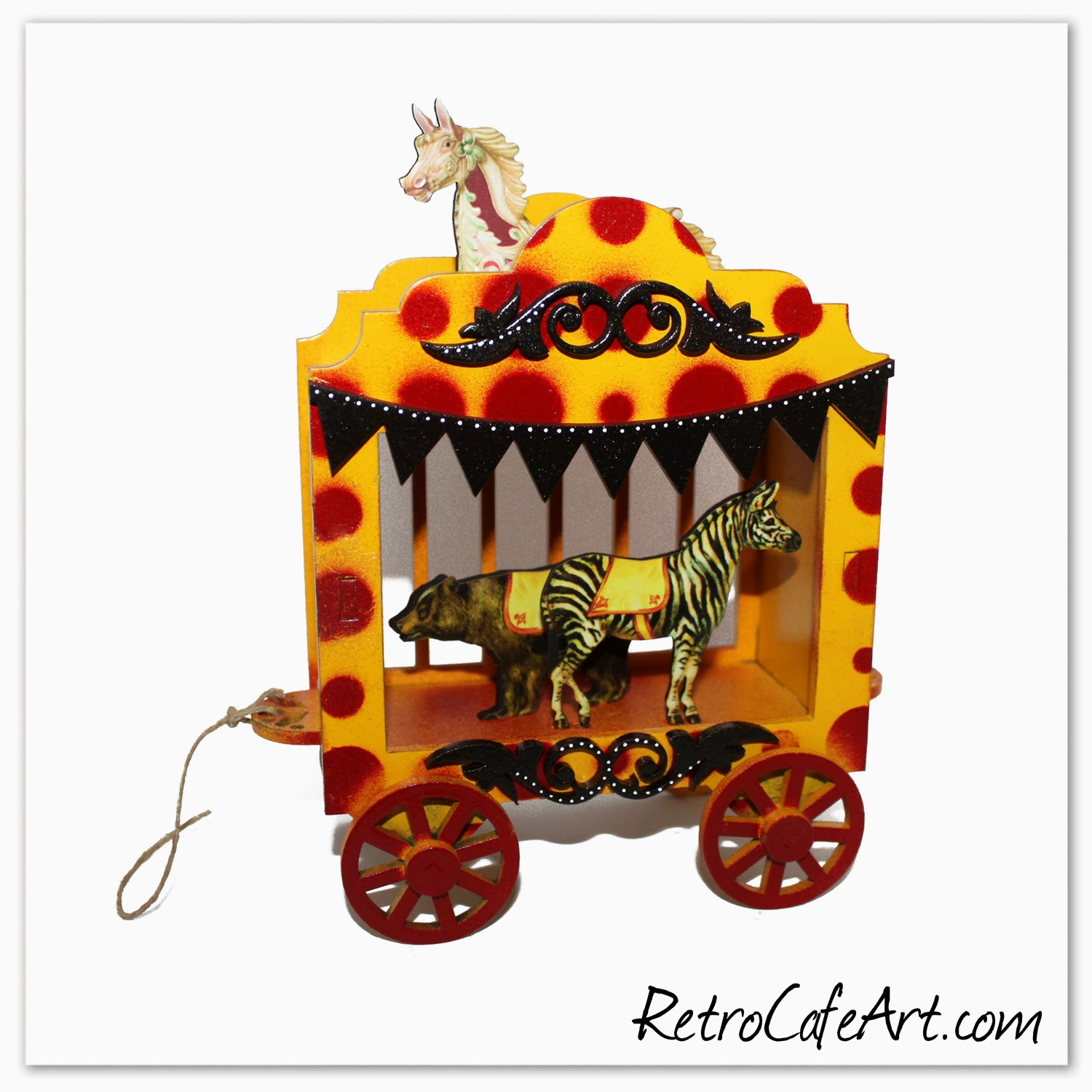 Art gallery fabulous rolling circus wagons circus dolls more
