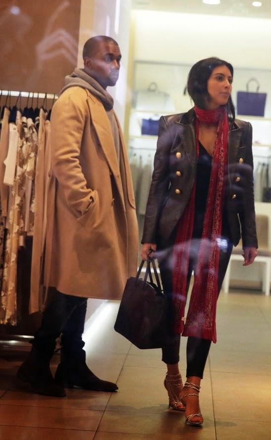 Kim Kardashian And Kanye West Enjoying Shopping In Prague