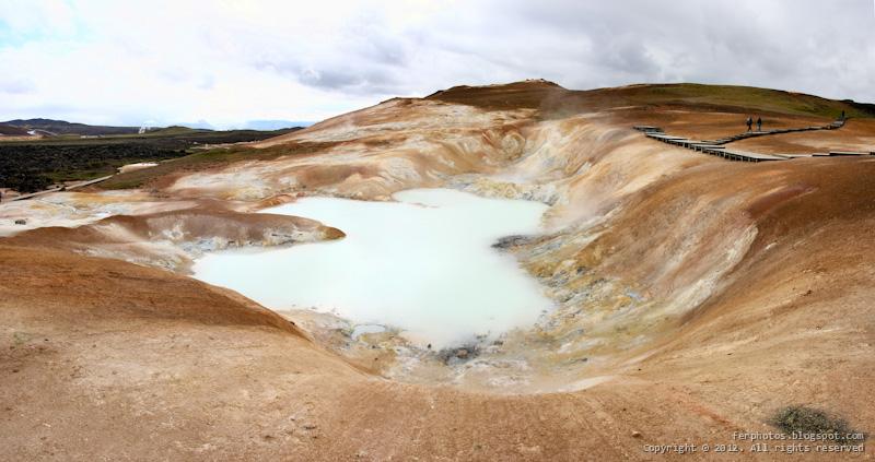 Iceland Namafjall sulphur  fields mudpots fumarole
