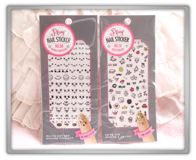 RoseRoseShop ebay Etude House Haul Review beauty blogger korean Enamelting Gel Nail Cleanser Play Nail Sticker sketchbook  kawai emoticon