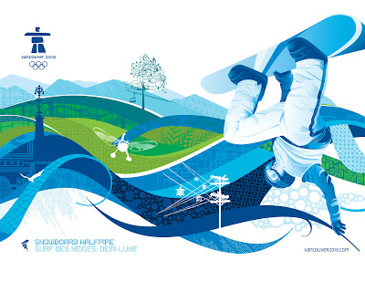 Free Vancouver 2010 Olympic Winter Games PowerPoint Background 1