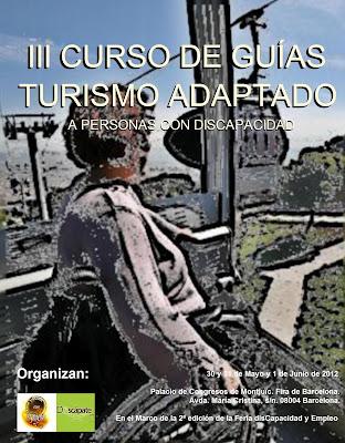 Cartel del III Curso de Guías de Turismo Adaptado a  Personas con Discapacidad