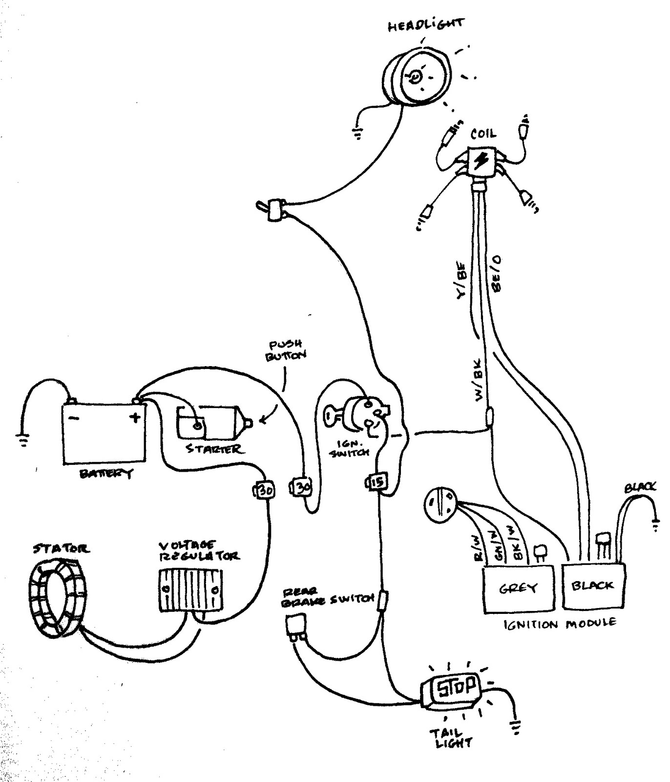 Motorcycle Wiring Harness Diagram : Cc pocket bike wiring diagram get free image about