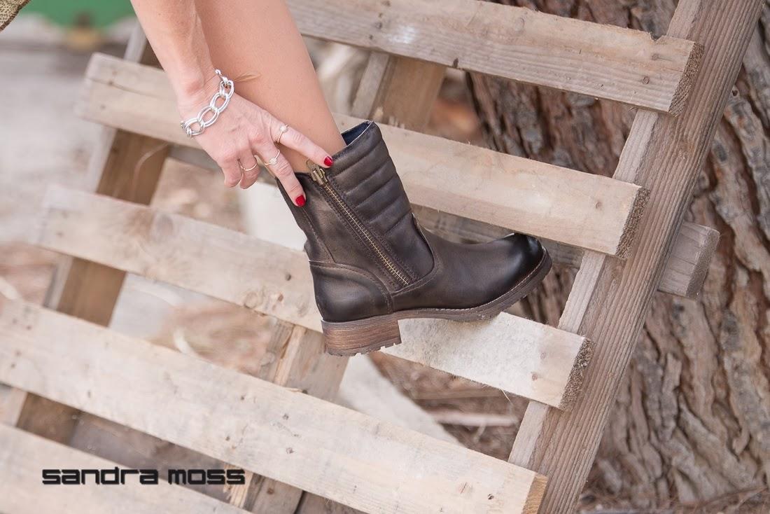 Calzado Sandra Moss - Calzado piel - botas moteras