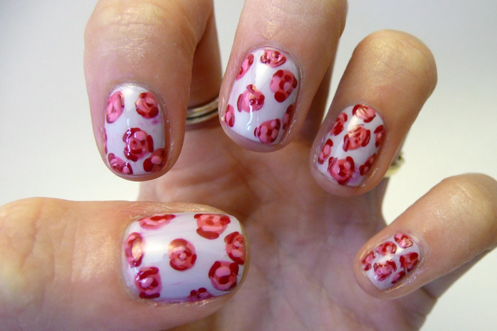 Casa de Polish: Nail Art Fail: Rose Nails