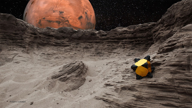 Prototipo de robo hedgehog para explorar asteroides e cometas