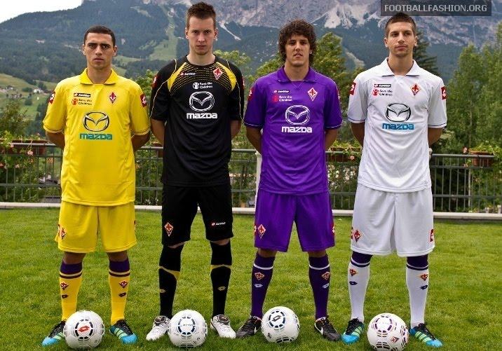 Fiorentina's 2011-12 kits