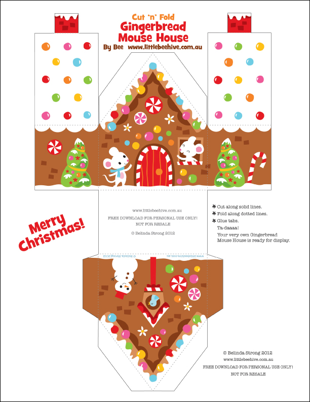Sly image for printable gingerbread house patterns