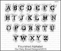 Our Daily Bread designs Flourished Alphabet