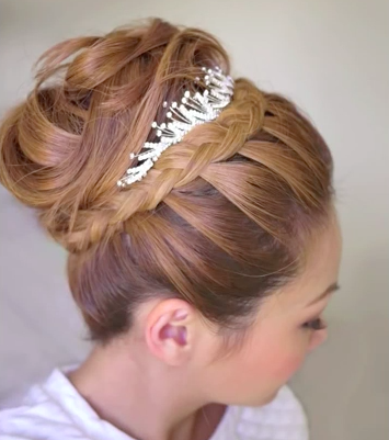 Winter Bridal Updo Hairstyle Tutorial