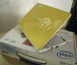 jual netbook 2nd acer aoh 2