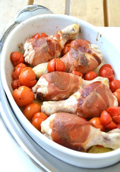 fusi di pollo con prosciutto crudo e salvia