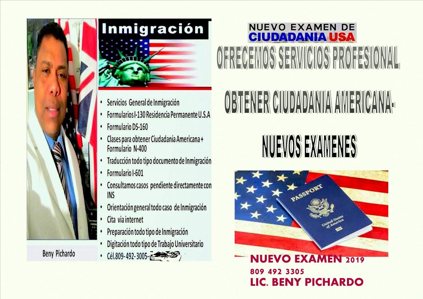 Servicio de Inmigración en General