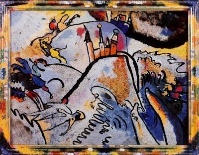 Quadre sobre vidre amb sol (Wassily Kandinsky)