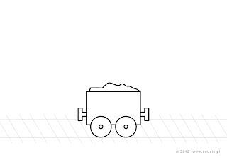 kolorowanki dla dzieci do wydrukowania - pociąg