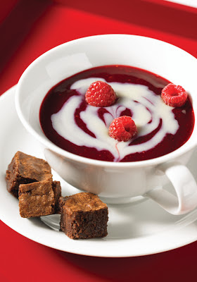 Raspberry and White Chocolate Swirl Soup 
