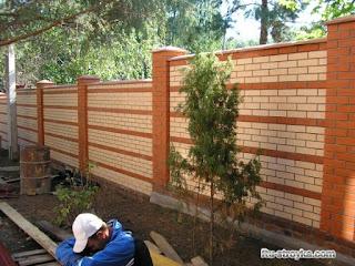 Кирпичный забор. Фото 27