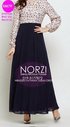 NBH0283 FATANAH JUBAH DRESS