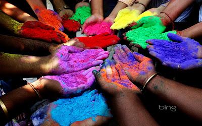 Rainbow Paint Hands