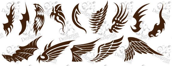 FREE DESIGN WINGS TATTOO