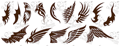 free designs wings tattoo