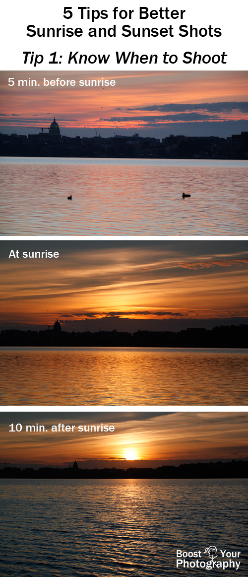 Tip 1 for Better Sunrise and Sunset Shots: Know When to Shoot | Boost Your Photography