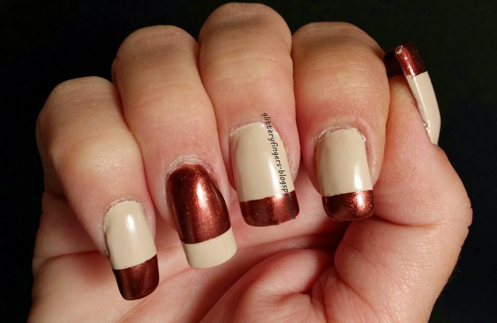 Glittery Fingers & Sparkling Toes: Thanksgiving (Fall) French Tips