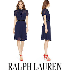 Crown Princess Victoria Style RALPH LAUREN Dress, GANT Coat, RALPH LAUREN Pumps, RALPH LAUREN Ricky Chain bags