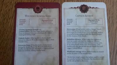 Esta carta explica los perfiles de los personajes principales de Traición en Calth