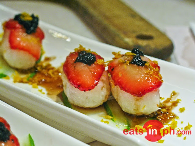 Strawberry Balsamico Nigiri from Vikings Luxury Buffet