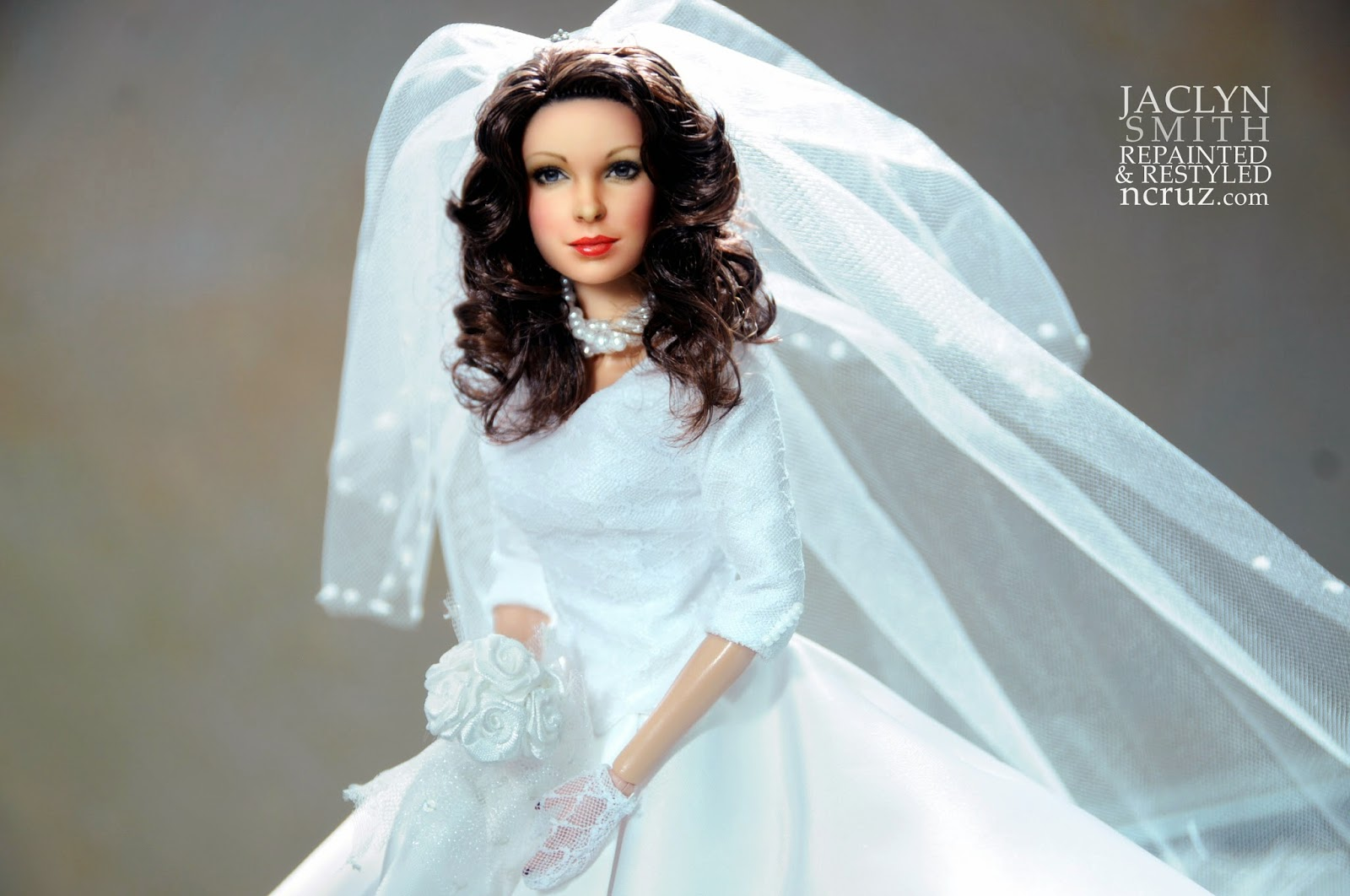 Jaclyn Smith repainted and restyled 12 inch Barbie