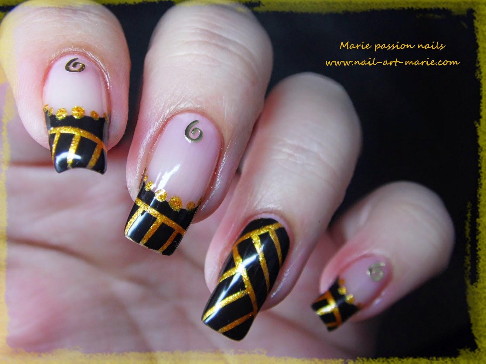 Nail art égyptien2