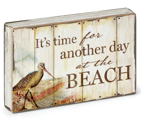 Time for the Beach Box Sign