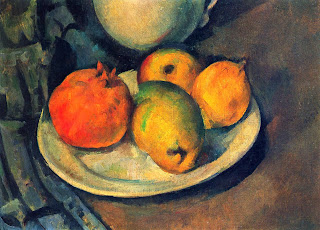 cezanne, still life, fruit, oil painting