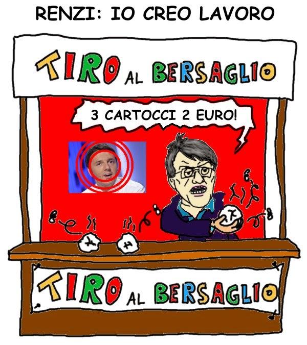 Landini, Renzi, lavoro, satira