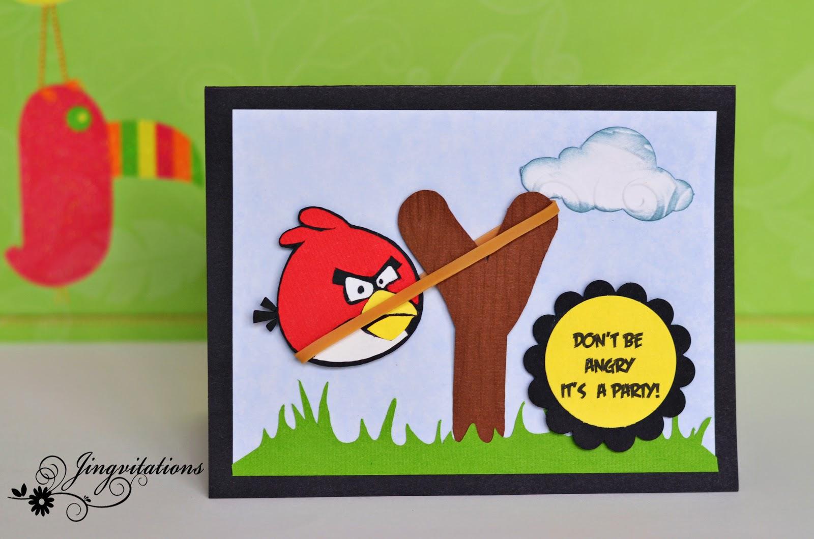 Jingvitations: angry birds