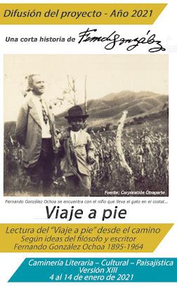 """Plegable """"Viaje a pie"""" 2021"""