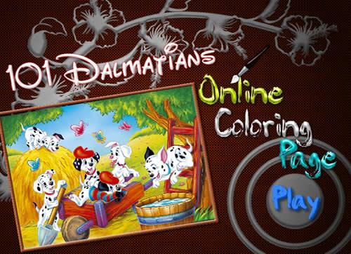 เกมส์ระบายสีการ์ตูนส์ 101 ดัมเมเชี่ยน