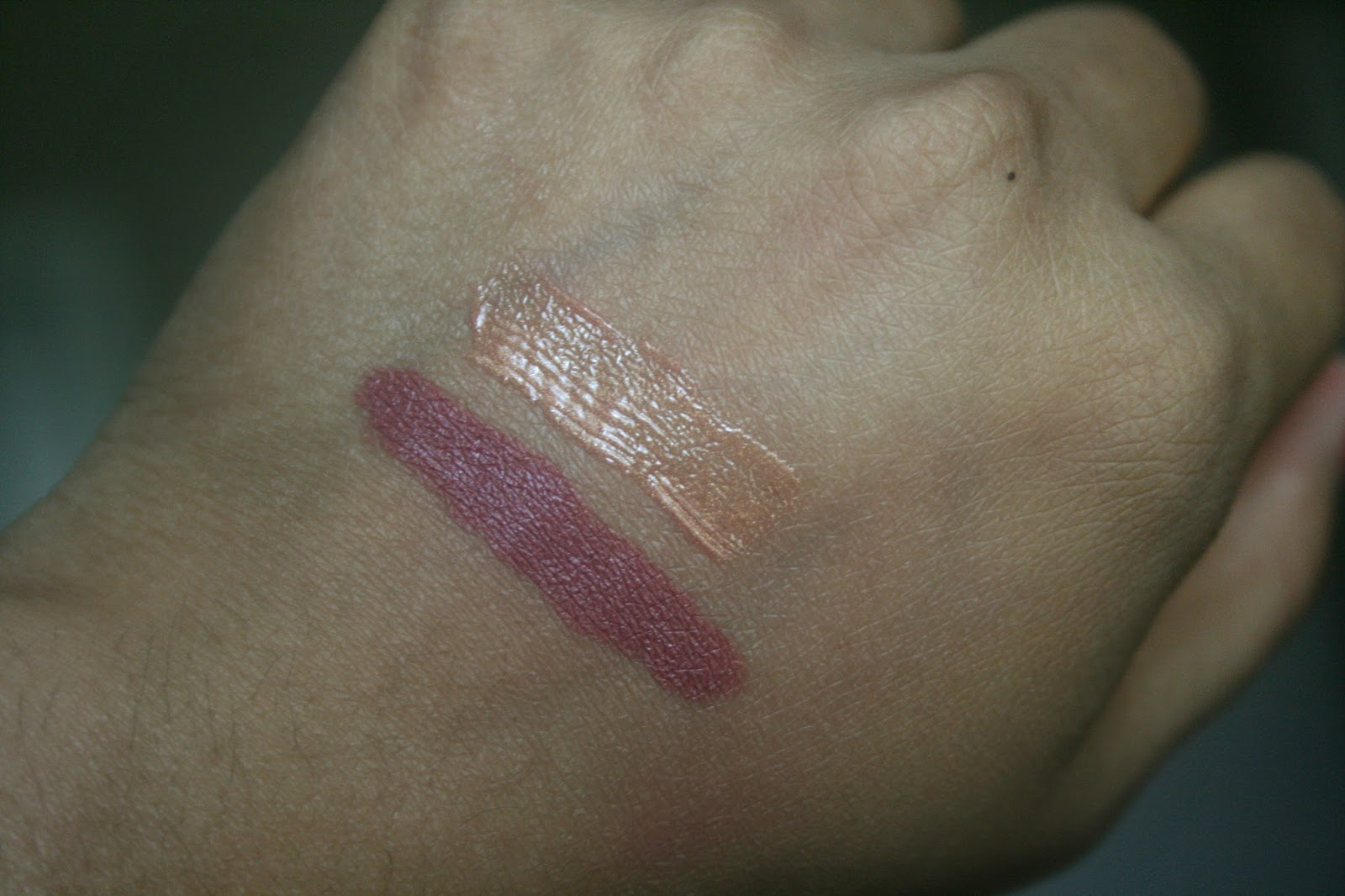 Bite Beauty Matte Creme Lip Crayon in Glace, Agave Lip Mask Champagne Swatches