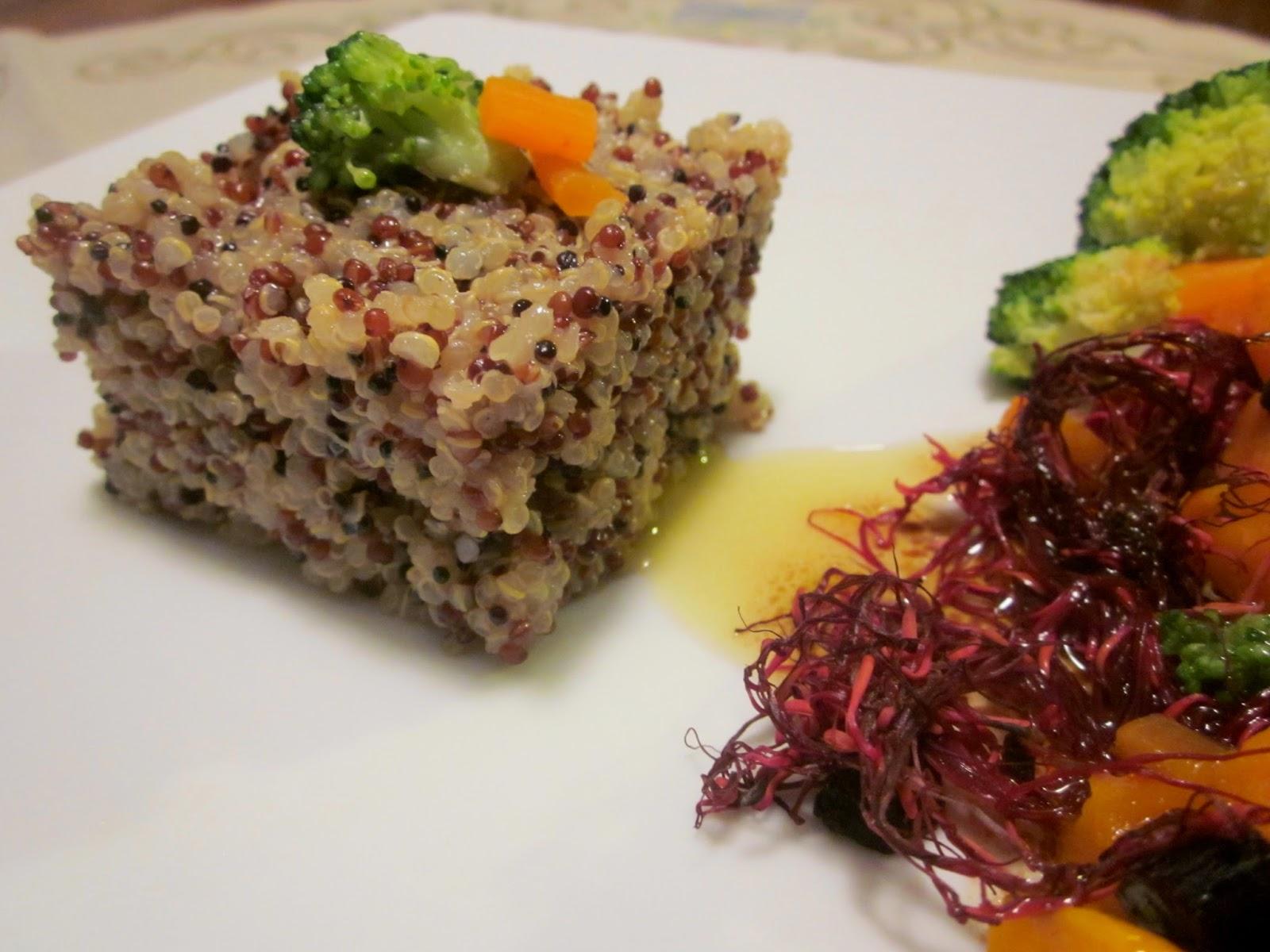 quinoa tricolore con verdure invernali e vinaigrette al balsamico