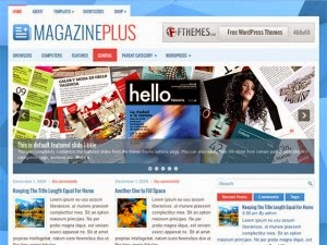 MagazinePlus - Free Wordpress Theme