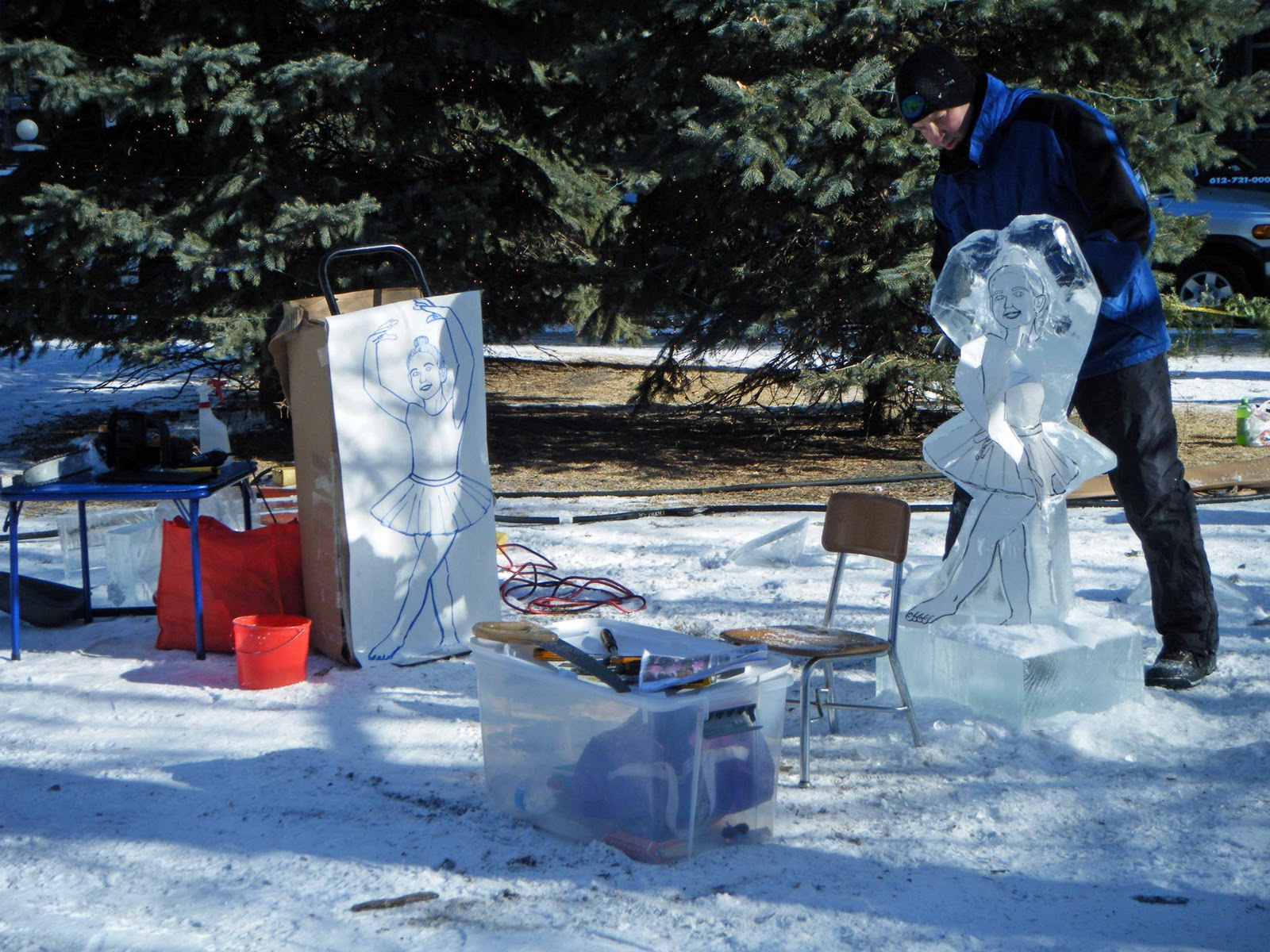 steps in ice carving Come and spend a week-end learning how to carve arrival friday evening, registration will be on arrival ice breaker will be served saturday morning group breakfast tour of the ice shop, ice carving tools presentation steps in creating an ice carving creating your own carving working lunch, group supper, sunday.