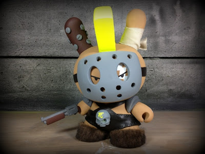 "Neon Dog Custom 8"" Dunny by Huck Gee"