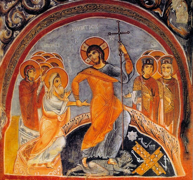 http://sermonwriter.wordpress.com/2011/09/28/christ-the-conqueror-of-hell/