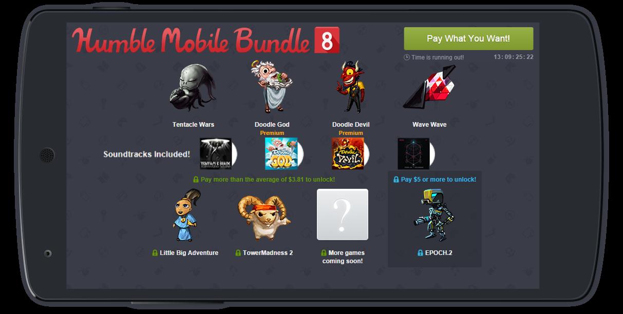 Nuevo pack de juegos para Android desde un céntimo de dólar.