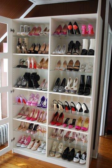 donde guardo los zapatos en mi guardarropa