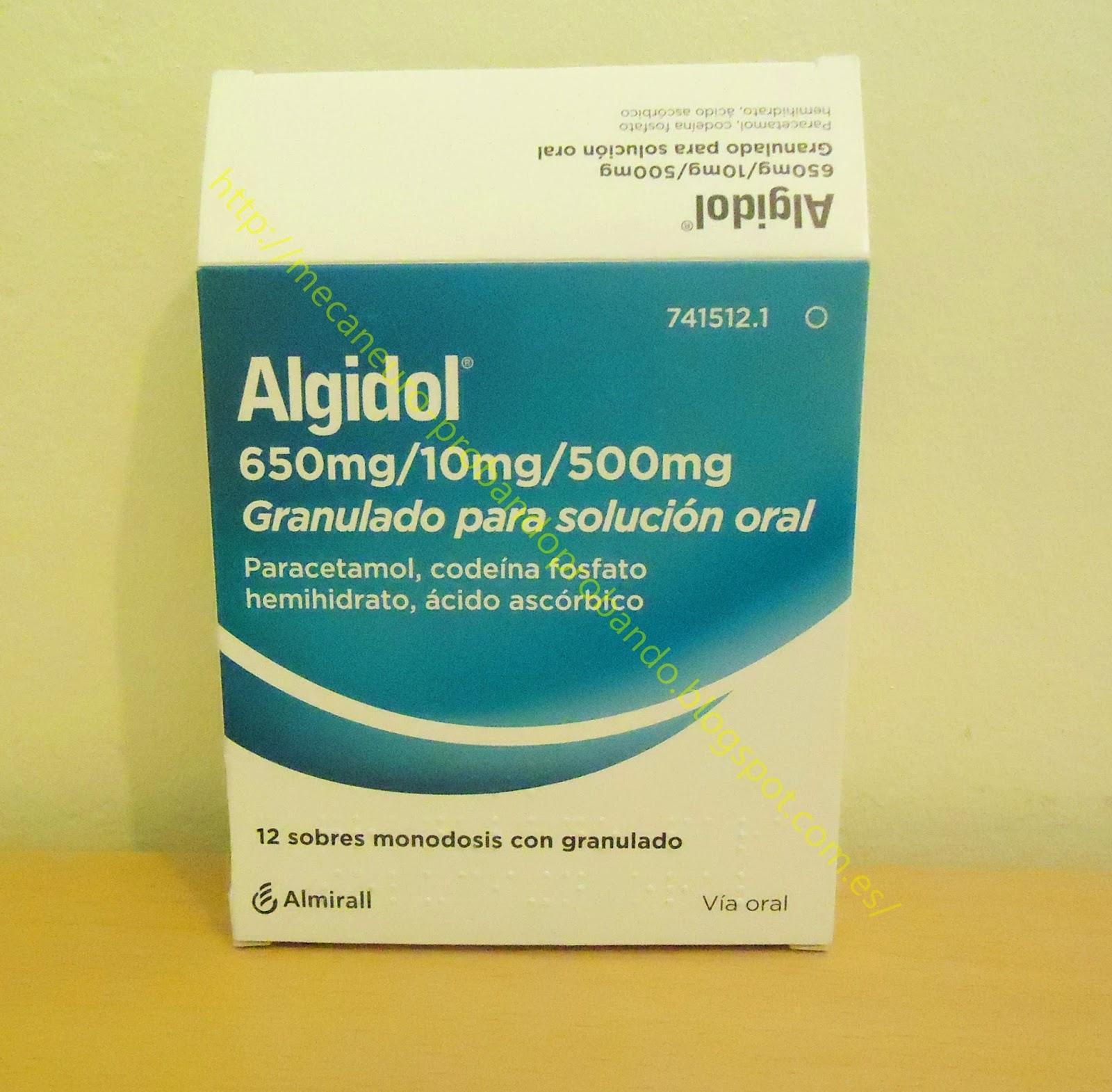 Algidol 650mg Granulado para solución oral