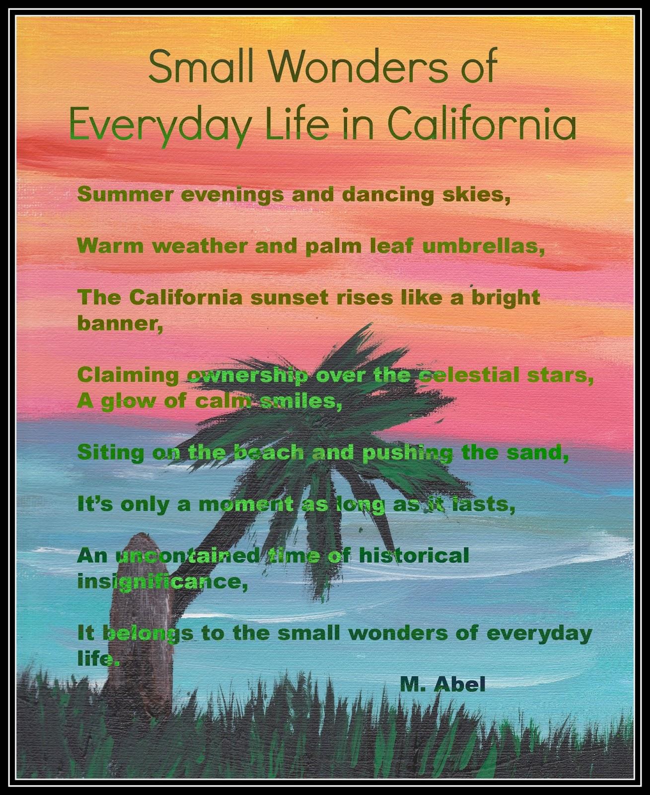 Academic Capital Poem Small Wonders Of Everyday